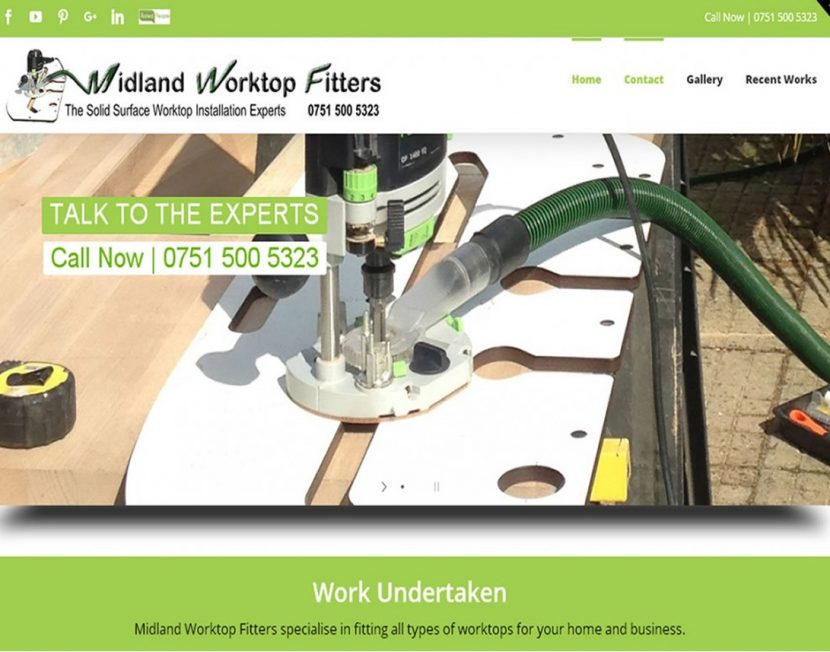 Midland Worktop Fitters - A Commerce site by Spa Web Design