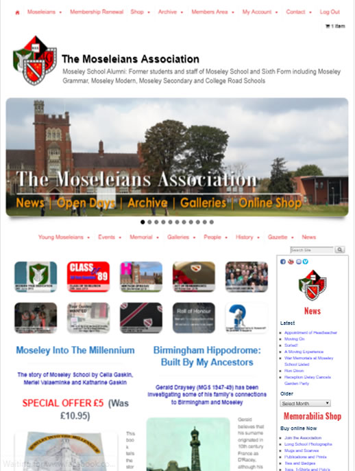 Moseleians Association - A Membership site by Spa Web Design