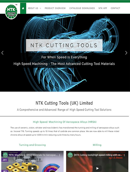 NTK Cutting Tools (UK) Ltd - The UK website for this global brand
