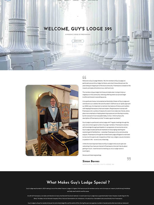 Guy's Lodge - A Brochure site by Spa Web Design